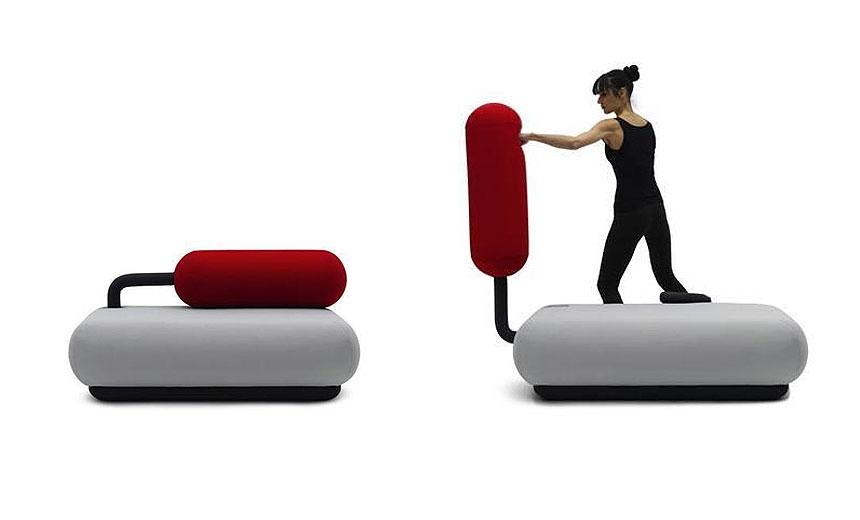 Tobias Franzel's Champ Sofa, Tobias Franzel, Champ Sofa, exercise furniture, transforming furniture
