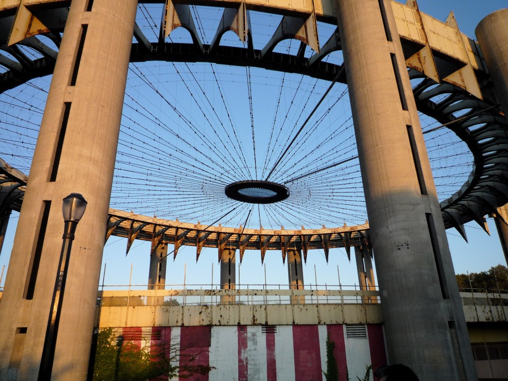 New York World's Fair, Philip Johnson, observation towers, Tent of Tomorrow, New York State Pavilion, NYSP, modern architecture