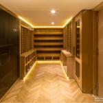 The wine cellar includes a Sub Zero refrigerator