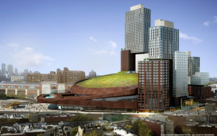 Barclays Center Green Roof, Barclays Center, Green Roof, green roofs brooklyn, green roofs new york, SHoP Architects, Forest City Ratner