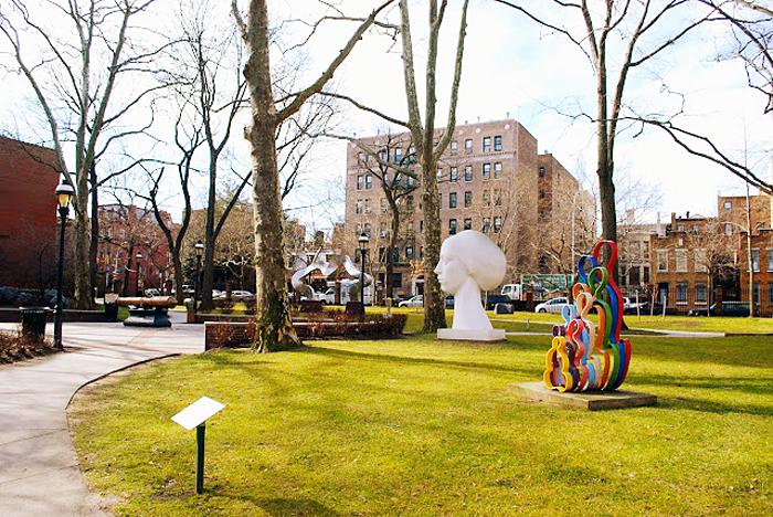 pratt campus, pratt institure, pratt sculpture garden, pratt institute garden