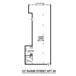 137 Duane Street, 2D. The current floor plan.