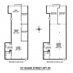 137 Duane Street, 2D. Possible modifications of the floor plan.