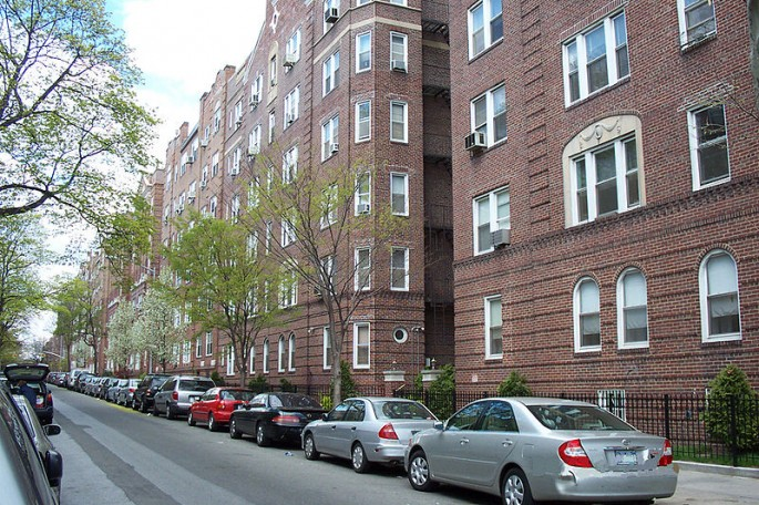 A typical Jackson Heights Apartment Building