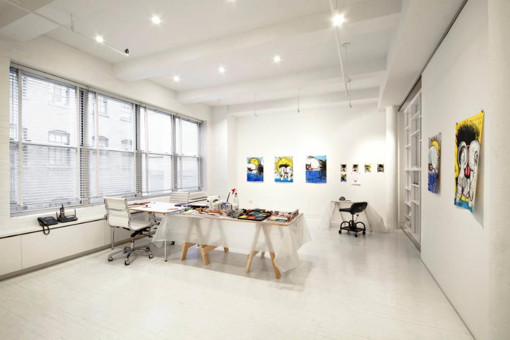 Carroll Dunham apt studio