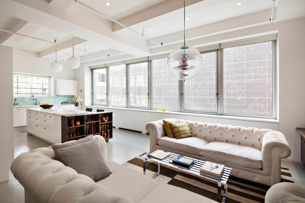 Carroll Dunham apt living room