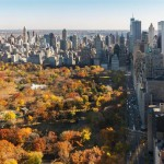 A view of Central Park from the apartment
