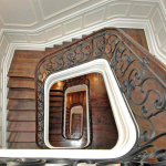 UES townhome, staircase,