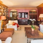 A photo of the Beresford's Classic living room with beautiful moldings