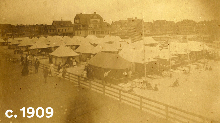 camping at the rockaways in queens early 1900s