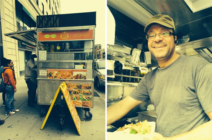 Downtown Brooklyn's Halal King himself