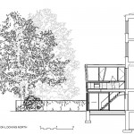 A rendering of the two-story pavilion