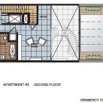 Floorplan for the second floor