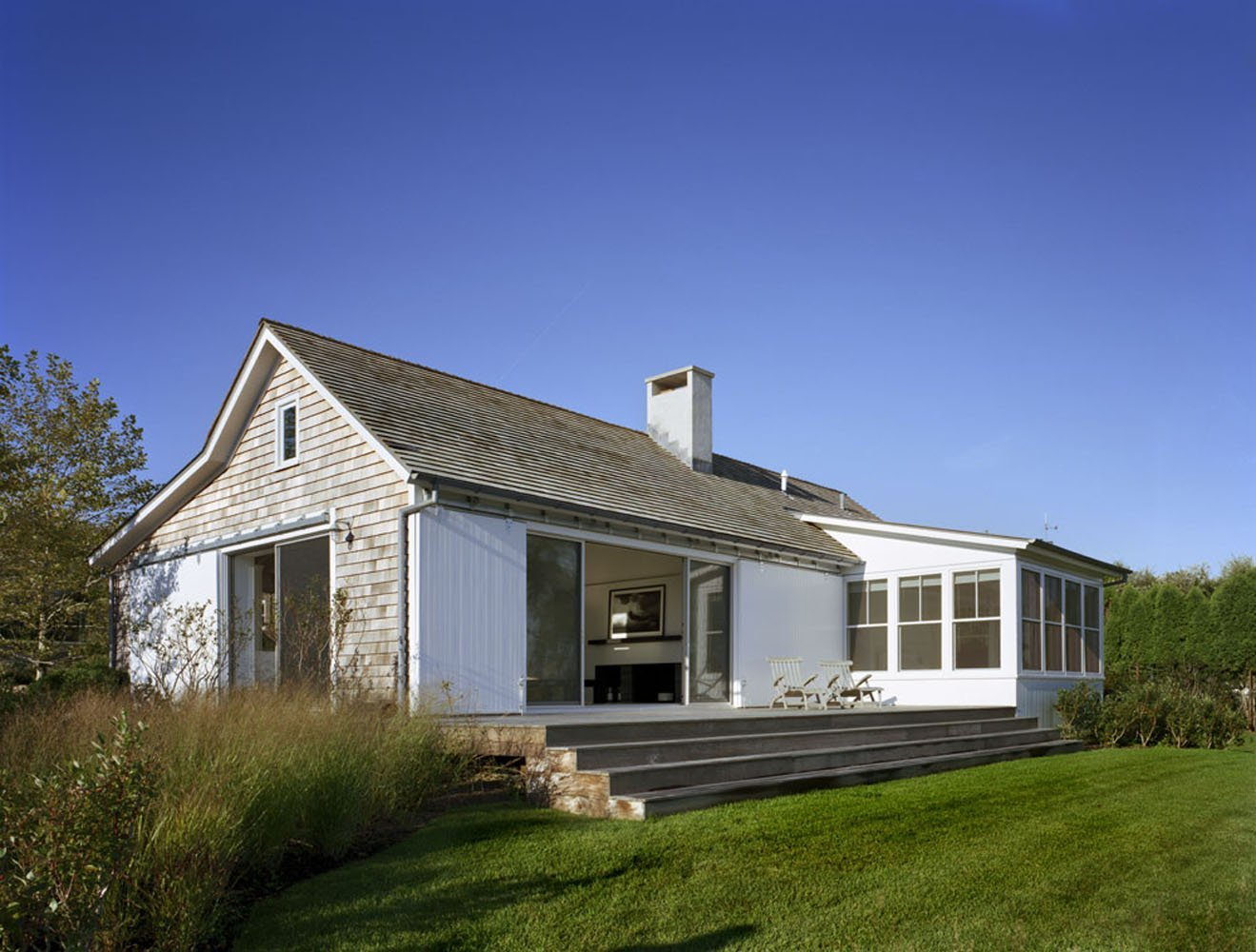 Peaceful montauk lake house is not your average vacation for Beach style house exterior