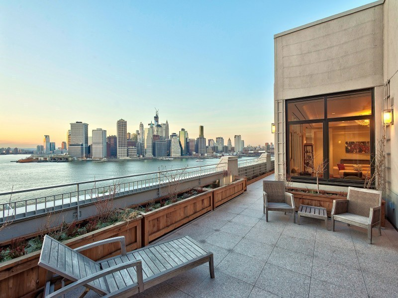 Stunning brooklyn bridge park penthouse at 360 furman for Brooklyn penthouses for sale