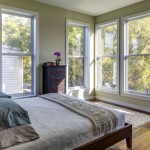 The master suite boasts views of Prospect Park