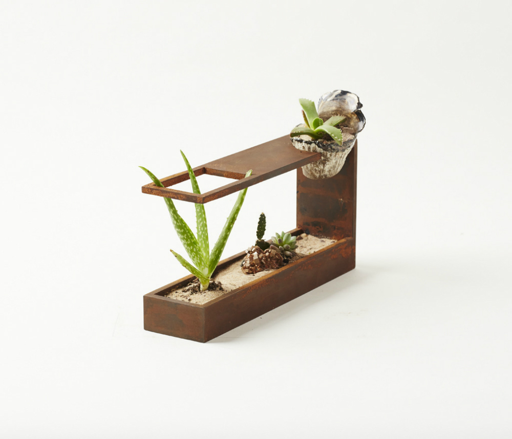 spruce up your desk with plant in city 39 s modern mini terrarium 6sqft. Black Bedroom Furniture Sets. Home Design Ideas