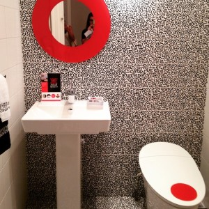 #keithharing bathroom at the Kips Bay Designer Show House by…