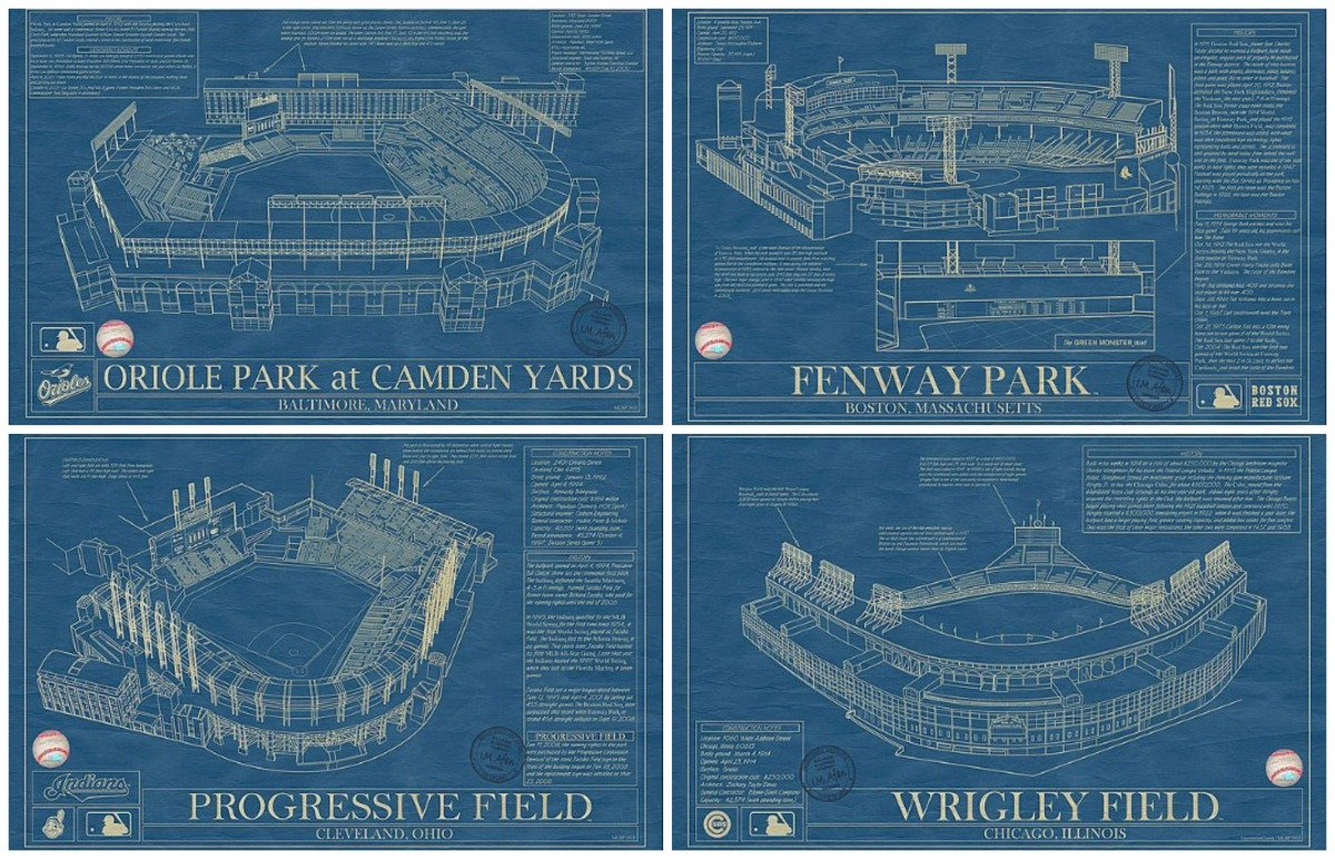 Ballpark blueprints are a homerun for baseball fans 6sqft for Where to print blueprints