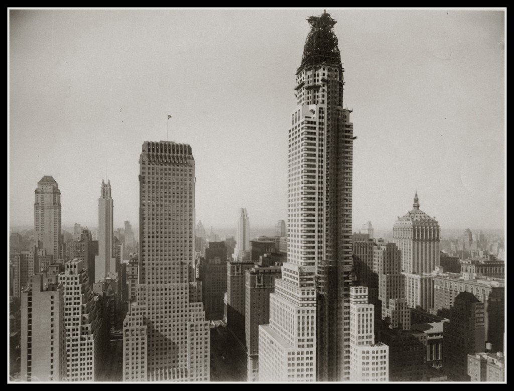 This beautiful photo shows an almost-complete Chrysler Building.