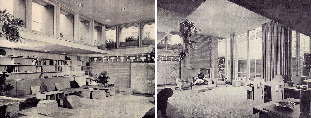 A model home at the Usonian Exhibition Pavilion in NYC