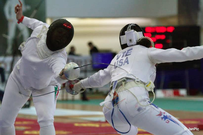 Natalie Vie. Photo courtesy of the Hungarian Fencing Federation