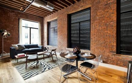 139 North 10th Street, Printhouse Lofts, living room