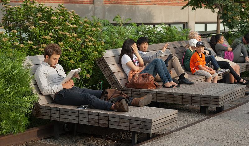 high line bench lounger, high line bench, high line lounger