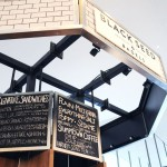 Black Seed Bagel kiosk at Hudson Eats inside Brookfield Place