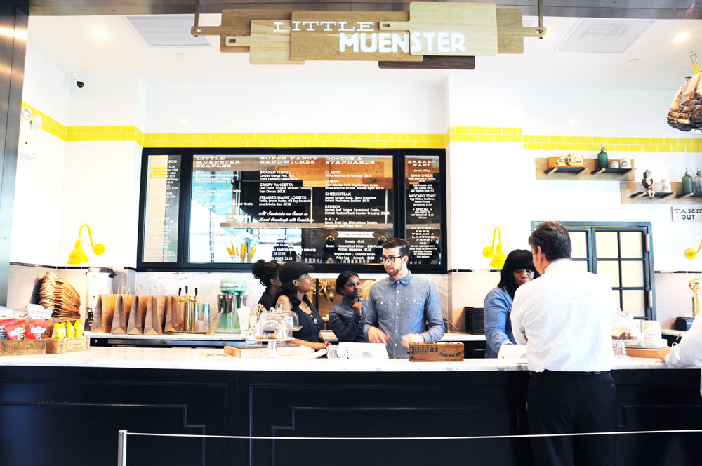 Little Muenster kiosk at Hudson Eats inside Brookfield Place