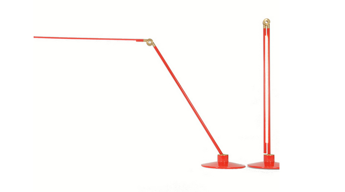 thin led lamp by juniper and peter bristol