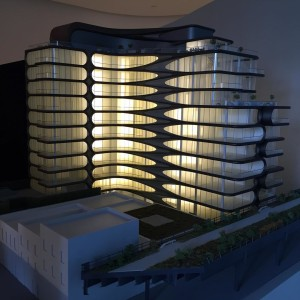 A beautiful new model of zahahadids High Line building athellip