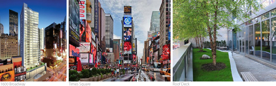 1600 Broadway On The Square, NYC luxury real estate, Times Square, athletic building amenities