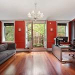Brooklyn carriage houses, modern carriage house, 407 Vanderbilt Avenue, milk glass chandellier