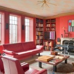 44 West 77th Street, Upper West Side real estate, 44 West 77th Street PH13, red living rooms