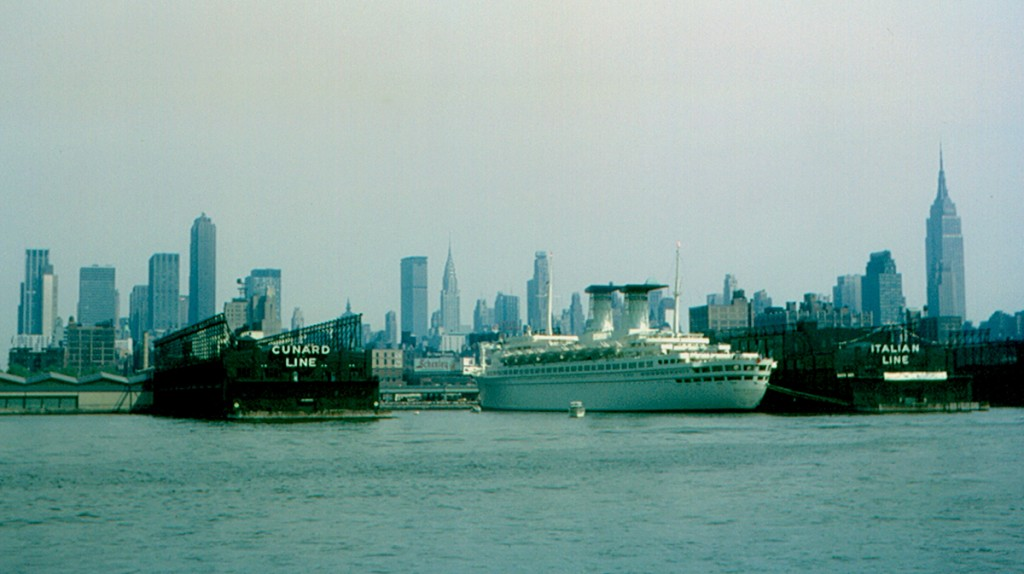 The skyline in 1965, taken from a boat in the Hudson River.