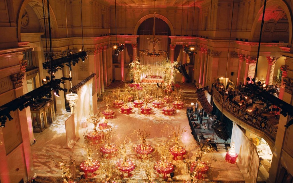 An event inside the Cipriani Wall Street, formerly the headquarters of the National City Bank.