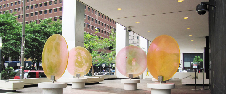 77 Water Street, George Adamy, Month of June, NYC public art, modern public benches