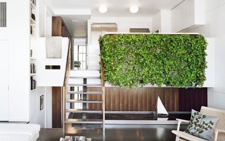 7th Street Residence, Pulltab Design, interior green walls, green interior design