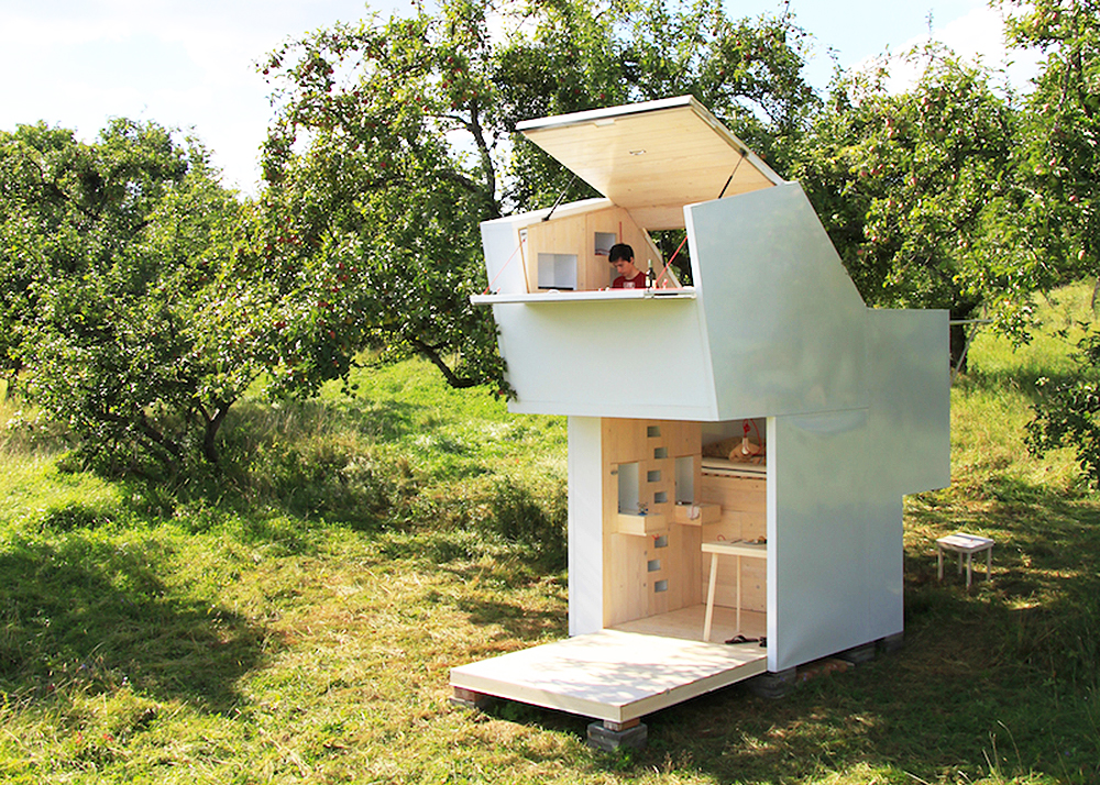 Studio allergutendinge 39 s soul box is a compact retreat for for Shelter studios
