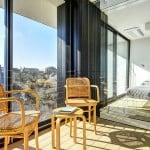 Bates Masi + Architects, Beach Hampton Home, floor-to-ceiling windows, Amagansett, controlled mechanical unit, energy efficiency, beach home