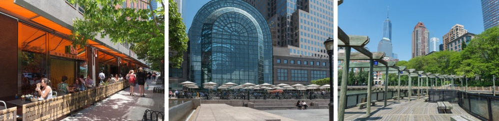 Battery Park City, Winter Garden at The World Financial Cente, South Cove at Battery Park City, Lower Manhattan