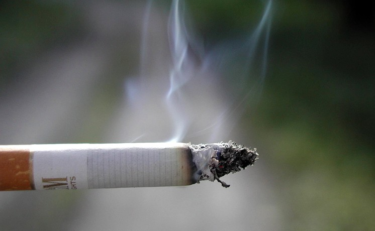 Cigarette smoking, Cigarette smoke