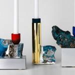 David Taylor, Slag candlesticks, found materials, Swedish design, abandoned iron foundry, upcycled materials, Superdave