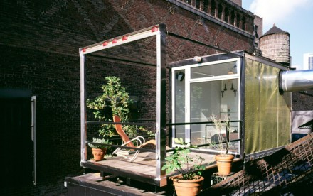 LOT-EK, Guzman Penthouse, shipping container design, homes made out of shipping containers, industrial apartment renovations, NYC shipping container houses