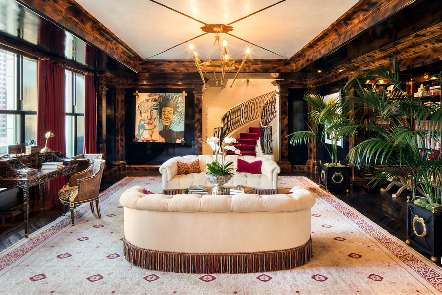 Tour tommy hilfiger 39 s lavish plaza penthouse 6sqft for New york city penthouses central park