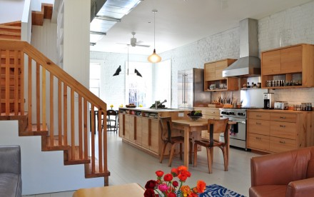 Boerum Hill townhouse renovations, Brooklyn townhouse renovations, Made Architecture, contemporary Brooklyn townhouse, salvaged wood cabinetry