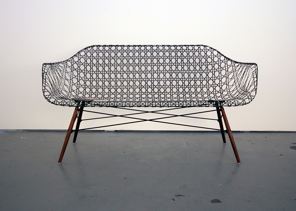 Matthew strong reinvents the iconic eames sofa using for Iconic furniture designers