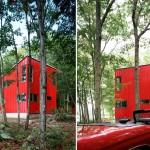 Ryall Porter Sheridan Architects, Red House, Upstate New York architecture, geometric architectural design, upstate retreats