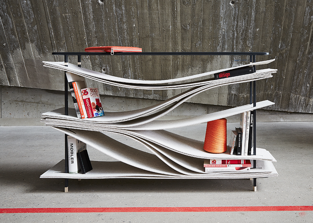 Studio FEM, Wave shelving system, undulating shelving, Danish design, Danish furniture,